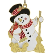 ChemArt Jolly Snowman Collectible Ornament