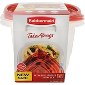 Rubbermaid TakeAlongs 7 Cup Square Food Storage Container 2 Pk.
