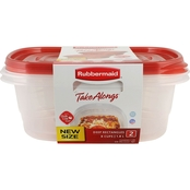 Rubbermaid TakeAlongs 8 Cup Rectangle Food Storage Container 2 Pk.