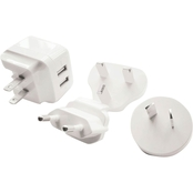 Powerzone 3.4A USB World Wall Travel Charger