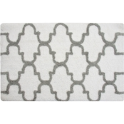 Saffron Fabs Geomatrics 2 Pc. Bath Rug Set, 34 x 21 and 36 x 24