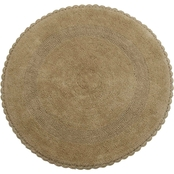 Saffron Fabs Crochet Lace 36 In. Round Bath Rug