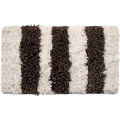 Saffron Fabs Allure Stripes 34 x 21 Bath Rug