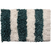 Saffron Fabs Allure Stripes 36 x 24 Bath Rug