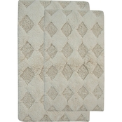 Saffron Fabs Charlotte 2 Pc. Bath Rug Set, 24 x 17 and 34 x 21