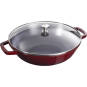 Staub 12 In. Enameled Cast Iron Perfect Pan with Lid