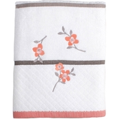 Saturday Knight Coral Garden Floral Bath Towel