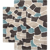 Chesapeake Boulder 2 pc. Brown Bath Rug Set