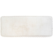Chesapeake Crochet White Bath Runner 22 x 60 in.