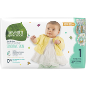 Seventh Generation Free & Clear Jumbo Diapers Stage 1, 40 ct.