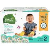 Seventh Generation Free & Clear Jumbo Diapers Stage 2, 36 ct.