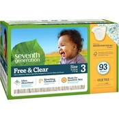 Seventh Generation Free & Clear Mega Pack Diapers Stage 3, 93 ct.