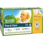 Seventh Generation Free & Clear Mega Pack Diapers Stage 4, 81 ct.