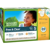 Seventh Generation Free & Clear Mega Pack Diapers Stage 5, 69 ct.