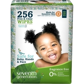 Seventh Generation Free & Clear Baby Wipes Refill, 256 ct.