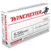 Winchester USA, 5.56 NATO 55 Gr. FMJ, 20 Rounds