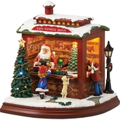 Roman Musical Light Up Santa's Train Shop Decoration