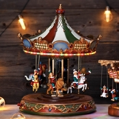 Roman Musical Light Up Rotating Carousel Decoration