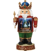 Roman Musical Light Up Nutcracker With Ballerina Figurine