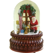 Roman Musical Santa at the Window Dome
