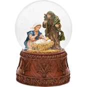 Roman Musical Nativity Glitter Dome