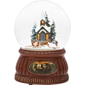Roman Musical Sleigh Ride Glitter Dome