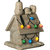 Roman Light Up Snoopy On House Garden Figurine