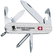 Swiss Army Tinker Grey Jargon Wounded Warrior Commemorative Knife