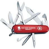 Swiss Army Fieldmaster 15 Function Red Wounded Warrior Project Pocket Knife