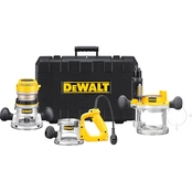 DeWalt 2-1/4 HP (maximum motor HP) Three Base Router Kit