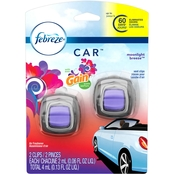 Febreze Gain Moonlight Breeze Car Vent Clip 2 pk.