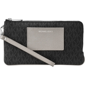 Michael Kors Bedford Large Double Zip Wristlet with Pocket