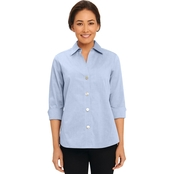 Foxcroft Paige Non Iron Big Button Pinpoint Shirt