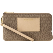 Michael Kors Bedford Medium Double Zip Wristlet with Pocket