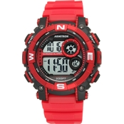 Armitron Men's Sport Digital Chronograph Matte Resin Strap Watch 40/8284