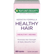 Nature's Bounty Optimal Solutions Healthy Hair Keratin Formula Capsules 60 pk.
