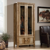 Sauder Gun Display Cabinet in Craftsman Oak