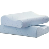 Arctic Sleep by Pure Rest Cool Blue Memory Foam Contour Pillow