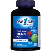 One A Day VitaCraves Men's Multivitamin/Multimineral Supplement Gummies 150 pk.