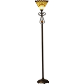 Dale Tiffany Jerome LED Torchiere Floor Lamp