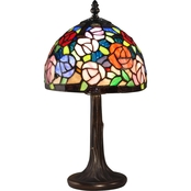 Dale Tiffany Carnation Mini Accent Lamp