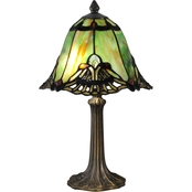 Dale Tiffany Green Haiawa Mini Lamp