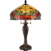Dale Tiffany Zenia Rose Table Lamp