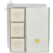 Carved Solutions EcoLuxury Soap Gift Set with Gold Bee