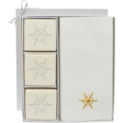 Carved Solutions EcoLuxury Soap Gift Set with Gold Snowflake