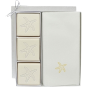 Carved Solutions EcoLuxury Soap Gift Set with Gold Starfish