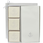 Carved Solutions EcoLuxury Soap Gift Set with Silver Anchor