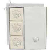 Carved Solutions EcoLuxury Soap Gift Set with Silver Scallop Shell