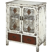 Powell Parcel 2 Drawer 2 Door Console