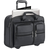 Solo Classic 15.6 in. Leather Rolling Case